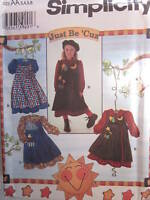7278 Vintage Simplicity SEWING Pattern Girls Pinafore Dress Just be 'Cuz UNCUT