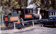 Mount Washington Cog Railway steam locomotive train railroad postcard