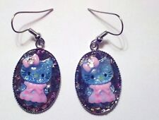 Hello Kitty Dangle Glitter Earrings Charm Pendant NEW BTBHK1