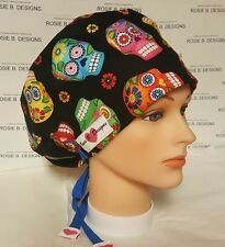 HAWAII SKULLS  CELEBRATION/ PIXIE HAT/ SCRUB / MED/ CHEMO CAPS /NURSES/OR/DRS