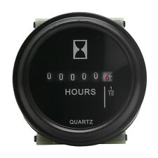 DC 10~80 V  High Accuracy Boat Car Truck Engine Round Hour Meter Gauge