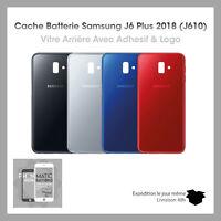 VITRE ARRIÈRE CACHE BATTERIE POUR SAMSUNG GALAXY J6+ J610 LOGO + ADHESIF