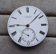 Orologio da tasca movimento, J T TROTTER Hexham, funziona con ma fermo, 43mm,