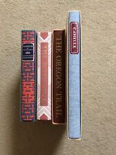 4 Heritage Club Books w/Slipcase/Sandglass, Ivanhoe, Oregon Trail, Camille, Path