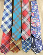 """8 Men's Plaid and Flower Ties Regular Classic 3"""" Wide  Blue Green Red T49A5"""