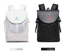 Black PU Air Jordan Sport Backpack School Bag Outdoor Fashion Travel Backpack