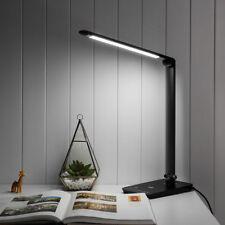 8W LED Schreibtischlampe, Dimmbar 500lm 7 Modi Tischlampe, Augenschutz, Kaltweiß