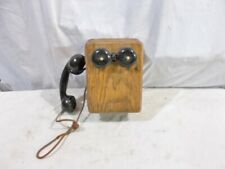 Kellogg Oak Wall Phone with Handset and Ringer -