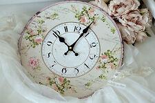 Wanduhr Rose Uhr Clock Shabby Chic Vintage Landhaus