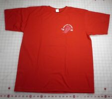 Rolling Stones T-Shirt XL Red European 2007 Forked Tongue Local Crew RARE