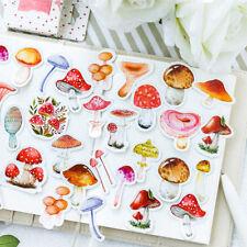 46pcs/lot Small Mushroom DIY Decorative Adhesive Stickers Papeleria Scrapbooking