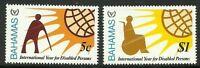 Album Treasures Bahamas Scott # 484-5 Year of the Disabled Mint NH