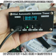 ATU-100 1.8-50MHz Automatic Antenna Tuner by N7DDC 7x7 + 0.91 OLED + Case Type C