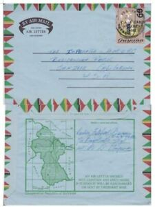 Guyana #546 on illustrated Air Letter;flower,sports topical *d