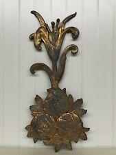 Stunning Art Nouveau Flower in Metal/Bronze (2)