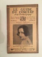El Guía de La Concierto Y Las Teatro Letra Lydia Massikova N º 9 1931