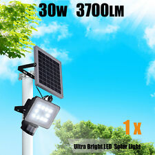 30W 64 LED Solar Sensor Light  Motion Detection Garden Flood light street lamp