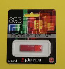 Kingston Technology DTSE3 8GB USB 2.0 Flash Pen Drive Red Brand New