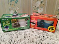VINTAGE SOLO COZY CUPS-2 STARTER PACKS-BLUE & WHITE
