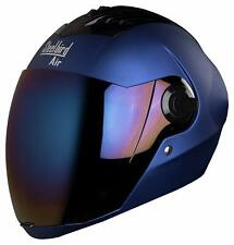 Steelbird Sba-2 Full Face Motorcycle Matt Yamaha Blue Helmet With Extra Visor-M