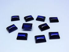 Blue Sapphire 11x5mm Baguette Cabochon Cut Shape Loose Corundum Gemstones
