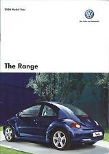 Volkswagen Range UK Brochure 2006 inc Beetle Cabriolet Golf R32 Touareg Passat