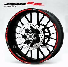 Honda CBR 600RR 1000RR Fireblade motorcycle wheel decals stickers rim stripe Red