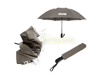 SAAB GENUINE INVERTED UMBRELLA GREY FOLDING BRAND NEW RARE GIFT PRESENT SUFFOLK