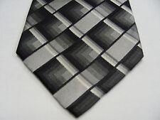 Flèche - Gris et noir - 100% Cravate soie
