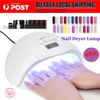 SUN5+ 48W LED UV Nail Lamp Light Gel Polish Dryer Manicure Art Curing AU Plug