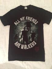 ALL MY FRIENDS ARE WALKERS WALKING DEAD T SHIRT SMALL