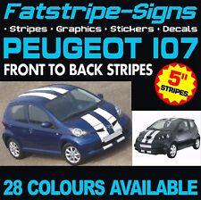 PEUGEOT 107 STRIPES GRAPHICS DECALS STICKERS VINYL GTI PUG 1.0 1.4 VIPER RACING