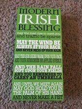 Irish Sign Our Name Is Mud 'Modern Irish Blessing' Box Sign