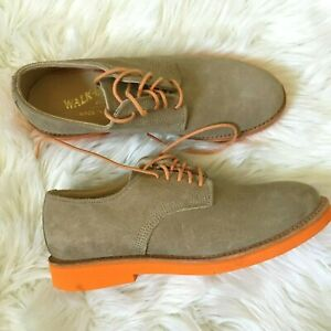 walk-over shoes 7.5 tan suede leather mens lace-up - size 7.5