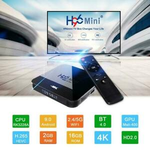 H96 Mini H8 Smart Android TV Box Android 9.0 RK3228A Penta-Core 2GB/16GB