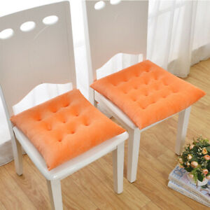 Thicken Pad Chair Cushion Tie on Seat Square Pad Dining Room Kitchen Garden Sofa