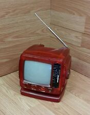 "Unbranded/Generic 5"" Black & White Red Analog Tv With Radio (1503) *Read*"