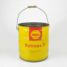 Alte XXL Tonne Blechdose Dose Shell Retinax C Fett 20Kg / Vintage Grease Tin Can