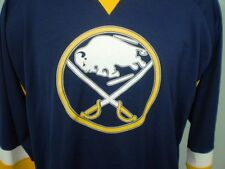NHL Buffalo Sabres Blue and Gold XL Jersey Polyester