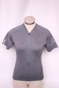 New Giro Women's Ride LT Jersey Cycling Bike Small Gray Short Sleeve Top