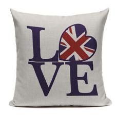 Love Britain L1 Cushion Pillow Cover British United Kingdom Union Jack Flag