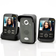 Wireless Video Door Phone-2X 3.5 Inch Monitors, Photo And Video Function NEW