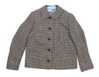 A Maconie Womens Size 12 Grey Wool Houndstooth Warm Winter Autumn Occasion Jacke