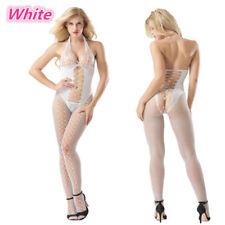 Sexy Bodysuit Stocking Crotchless Fishnet Open Crotch Lingerie Nightwear W8961