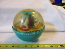 Vintage Fisher Price Toys Roly Poly Chime Ball #165 Rocking Horse Swan Usa 1966