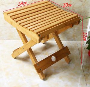Bamboo folding stool, chair, strong, portable fishing rest, vase base 竹折叠凳方凳板凳马扎