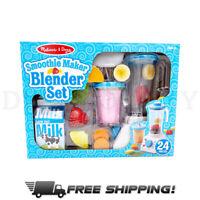 Melissa & Doug Wooden Smoothie Maker Blender Set with Play Food (24 Pcs)