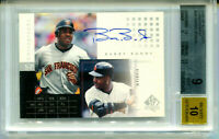 BARRY BONDS 2000 UD Upper Deck SP Authentic Chirography Auto Card Mint BGS 9 10