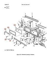 M998 2 ea Windshield Glass, Seals, Retainers, Screws Lh Rh 12339514 Hmmwv