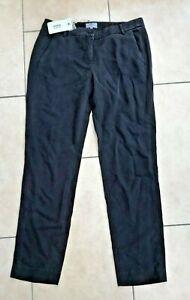 Hartford Alternative Classics Blue Ponette Straight Leg Trousers Sz 10 BNWT